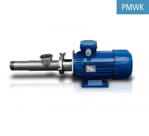 Bomba de tornillo corta para medios viscosos PMWK para el bombeo de los productos químicos, cosméticos, farmacéuticos o para la industria alimenticia.
