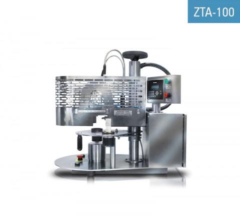 Cerradora de tubos metálicos ZTA-100 para el cerrado de tubos de aluminio previamente llenados y el estampado opcional de la fecha y/o el número de lote