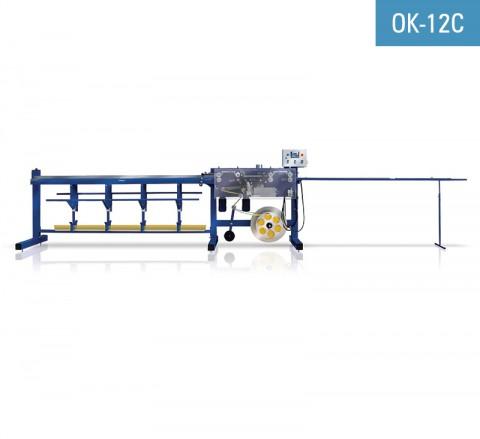 Encoladora de perfil de conexión pvc para ventana con malla de fibra de vidrio OK-12C para encolar malla al perfil marco ventana con adhesivo hotmelt