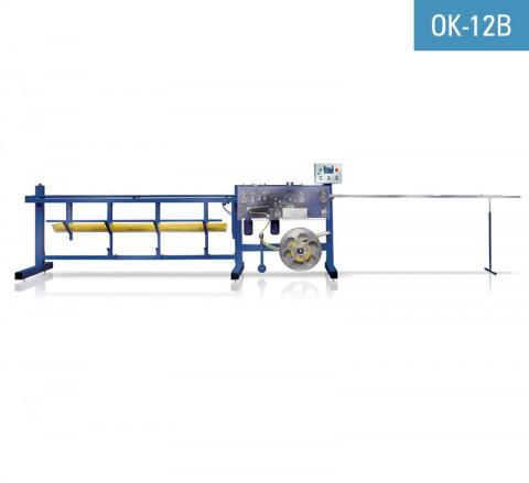 Encoladora de perfil goterón pvc con malla de fibra de vidrio NEWECO OK-12B para encolar malla al perfil goterón utilizando el adhesivo hotmelt