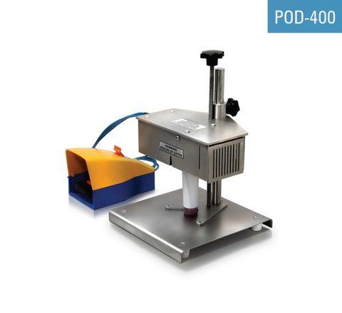 Tubenschneider für Kunststofftuben POD-400 wird zur Trimmung von PE- und Laminattuben im Anschluss an die Siegelung verwendet.