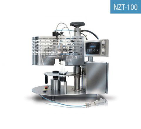 Tubenschweißgerät für Kunststofftuben NZT-100 für die Verschliessen von zuvor befüllten PE-Tuben, Tuben aus laminierten Kunststoffen und Stanzdatum.